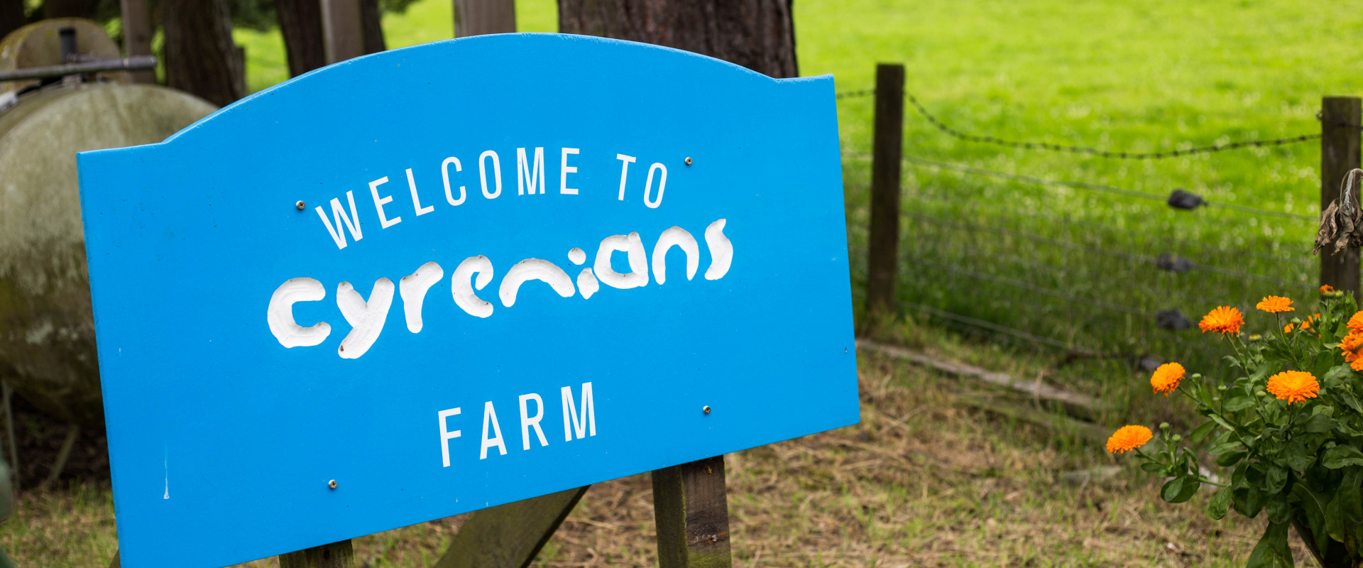 farm sign welcome